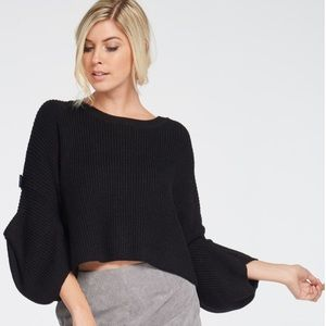 Wool blend crop sweater fits sizes s-l